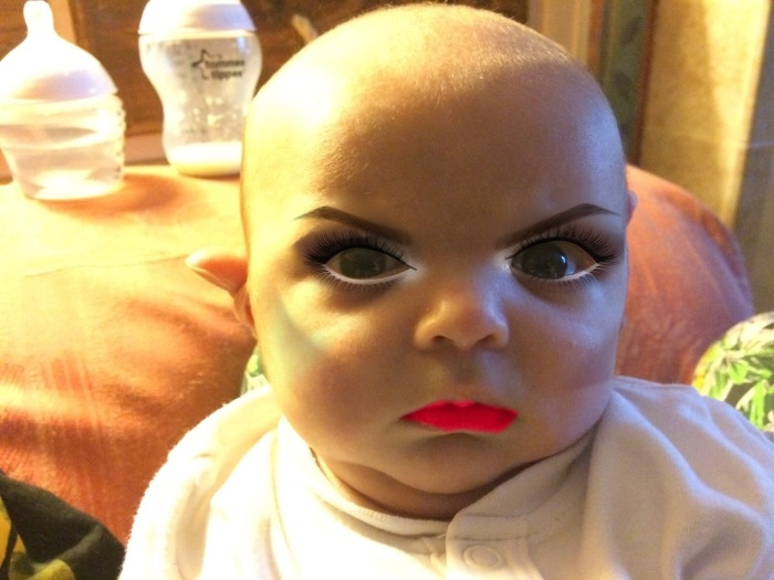 Mom Edits 7 Week Old Son's Photos With A Makeup App (7 pics)