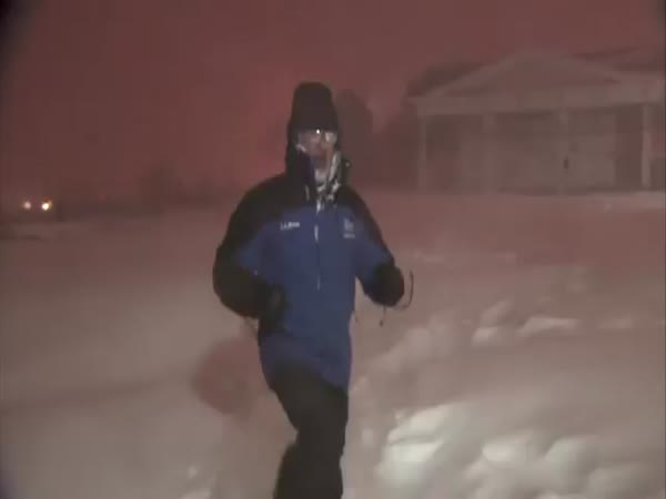 Jim Cantore Celebrates Thundersnow