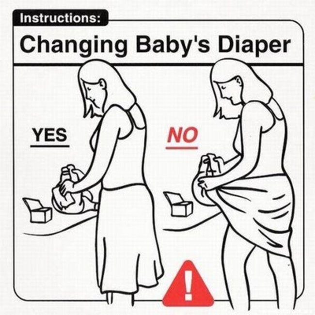 Helpful Tips For People That Are Clueless When It Comes To Babies (30 pics)