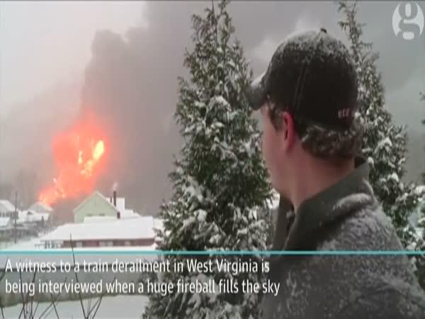 Fire In West Virginia After Oil Train Derails