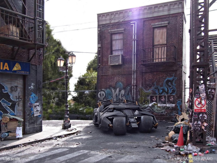 Satoshi Araki Recreates A Scene From Batman With An Awesome Diorama (6 pics)