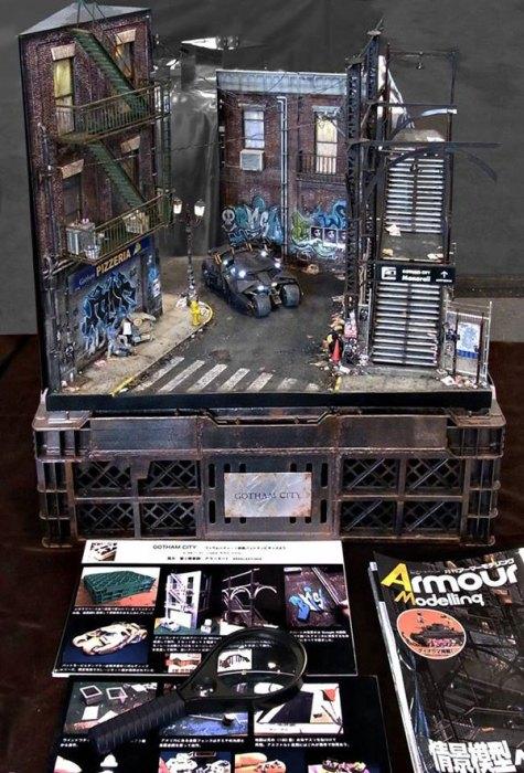 Satoshi Araki Recreates A Scene From Batman With An Awesome Diorama (6 pics)