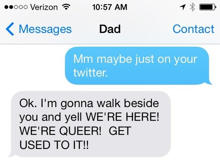 These People Came Out Of The Closet With Style Thanks To Text Messaging (16 pics)