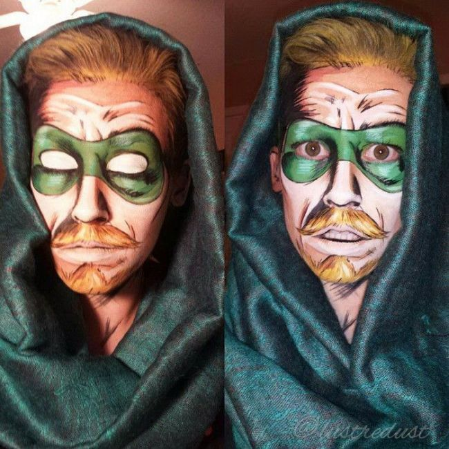 These People Used Makeup To Transform Into Comic Book Characters (13 pics)