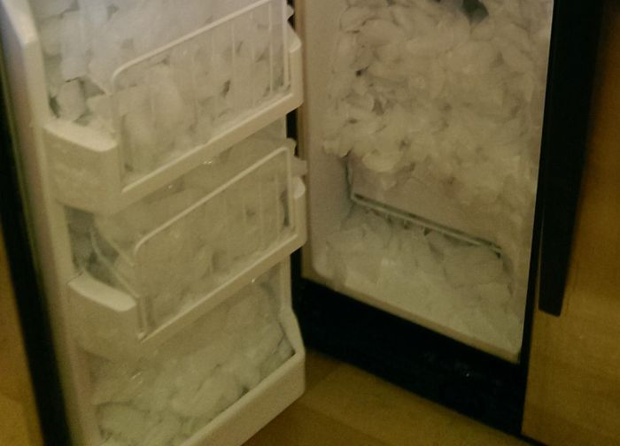 This Ice Maker Works A Little Too Well (4 pics)