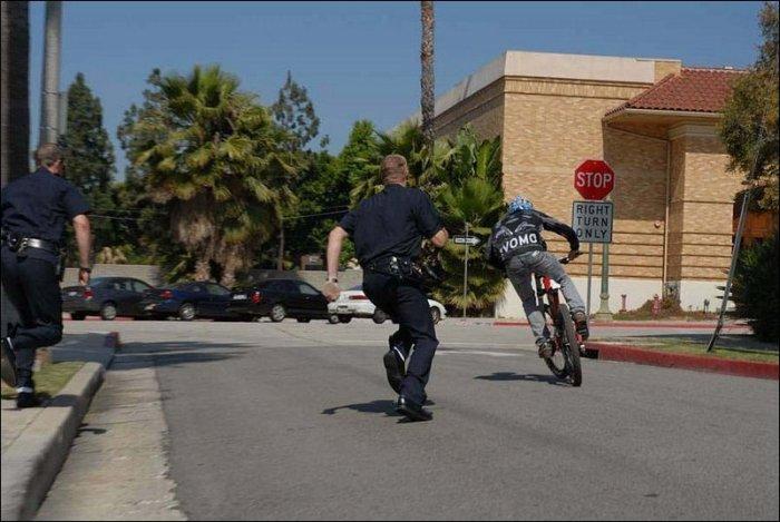 Bike vs Police (7 pics)