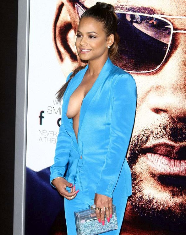 Christina Milian Shows Off A Whole Lot Of Sideboob On The Red Carpet (12 pics)