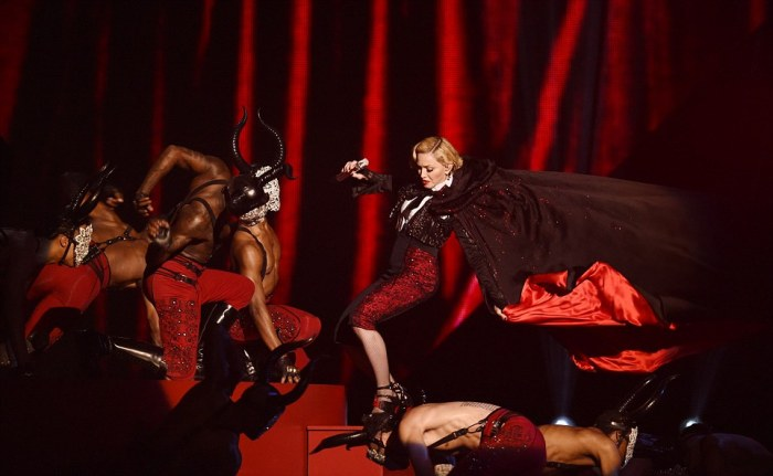 Madonna Fell Down A Flight Of Stairs During Her BRIT Awards Performance (7 pics + video)