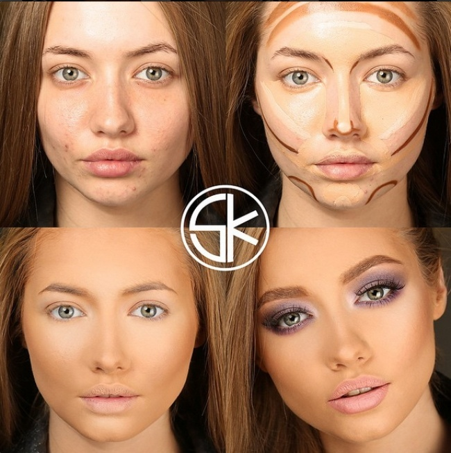 What A Difference Makeup Can Make (10 pics)