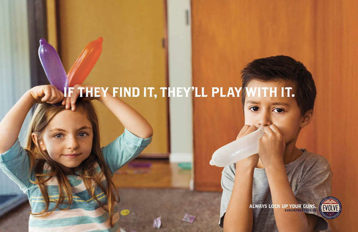 New Ad Uses Dildos And Condoms To Promote Gun Safety (4 pics)