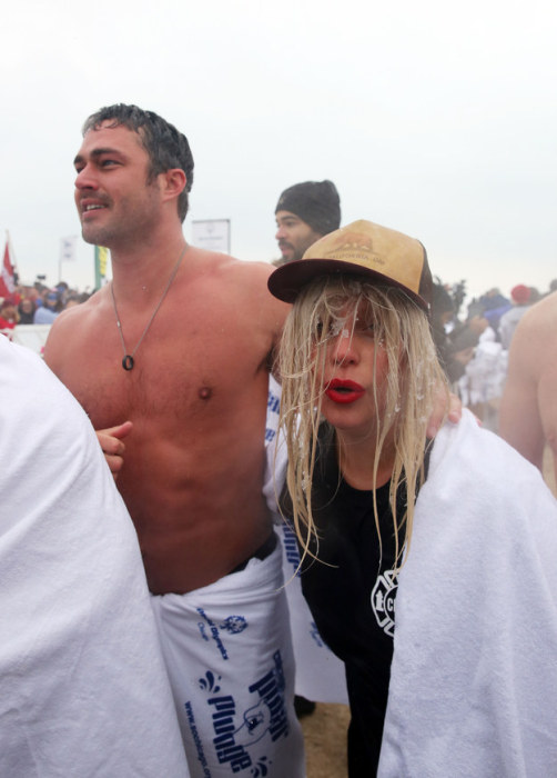 Lady Gaga Takes The Polar Plunge At Lake Michigan (8 pics)