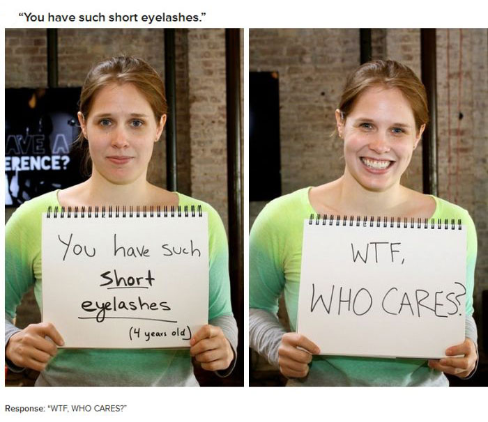 18 Women Respond To Mean Things People Said About Their Bodies (18 pics)