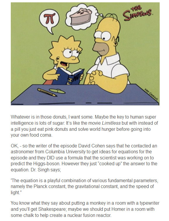 Did Homer Simpson Discover The Higgs Boson? (4 pics)