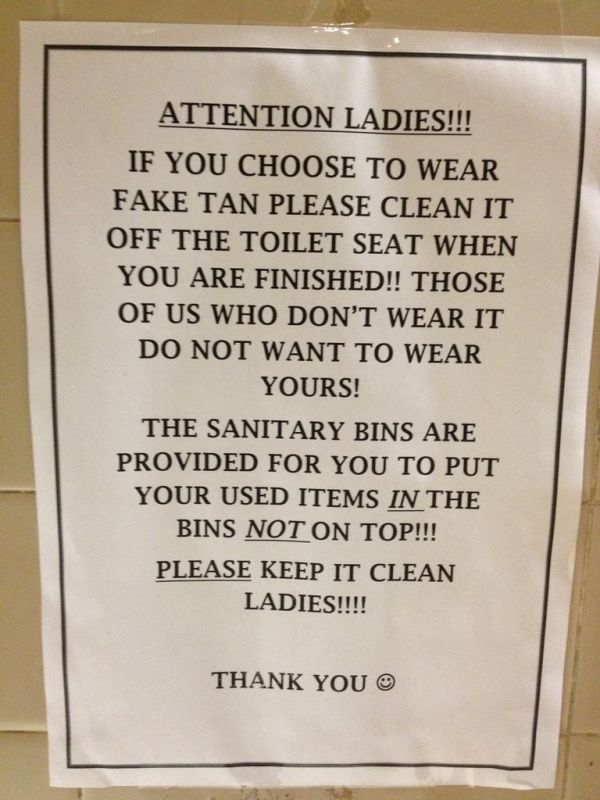 Passive Aggressive Notes You Would Only Find In The Bathroom (20 pics)