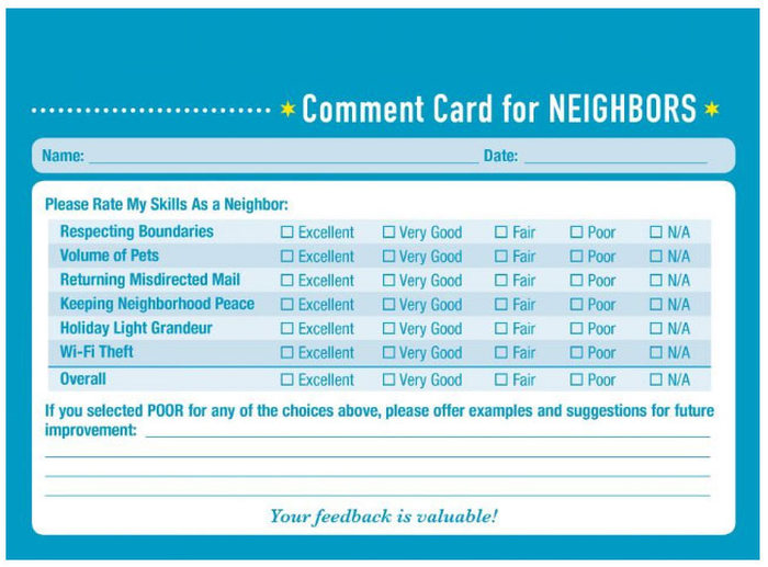 These Comment Cards Help You Score Your Personal Relationships (10 pics)