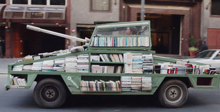 This Military Tank Delivers Free Books (9 pics)