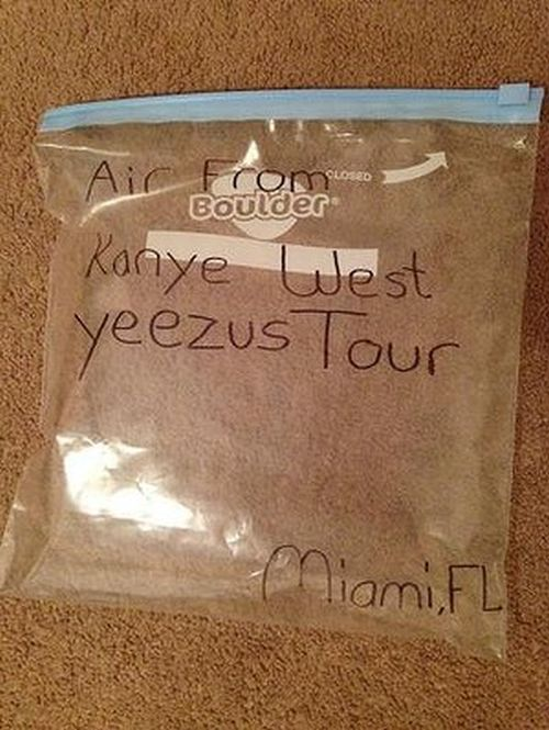 A Bag Of Air From Kanye West's Yeezus Tour Sold For Big Money (5 pics)