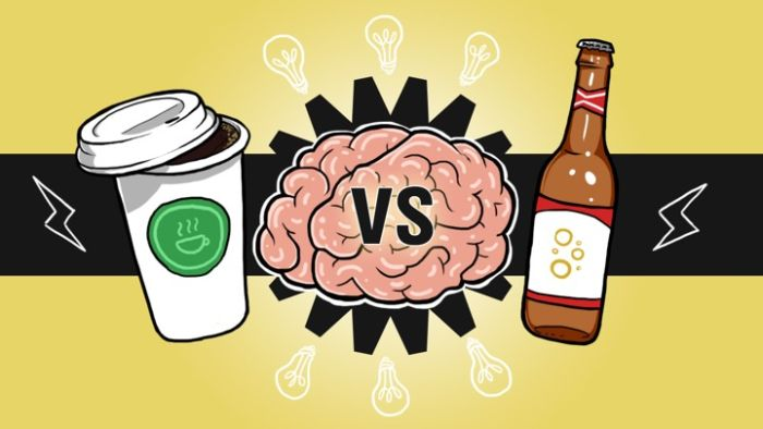 This Infographic Explains How Your Brain Is Effected By Beer And Coffee (infographic)