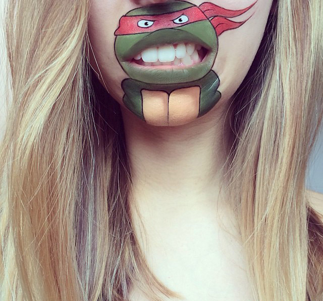 Laura Jenkinson Uses Makeup To Turn People's Mouths Into Cartoon Characters (40 pics)