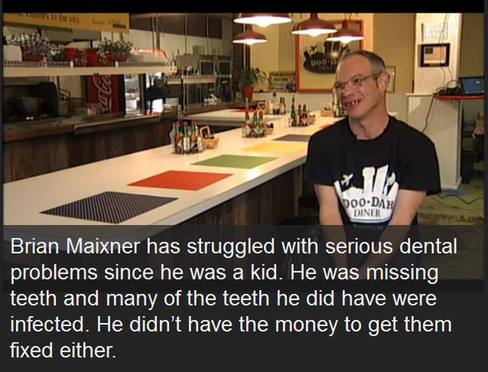 Wealthy Man Gives $25,000 Tip To Waiter So He Can Fix His Teeth (7 pics)