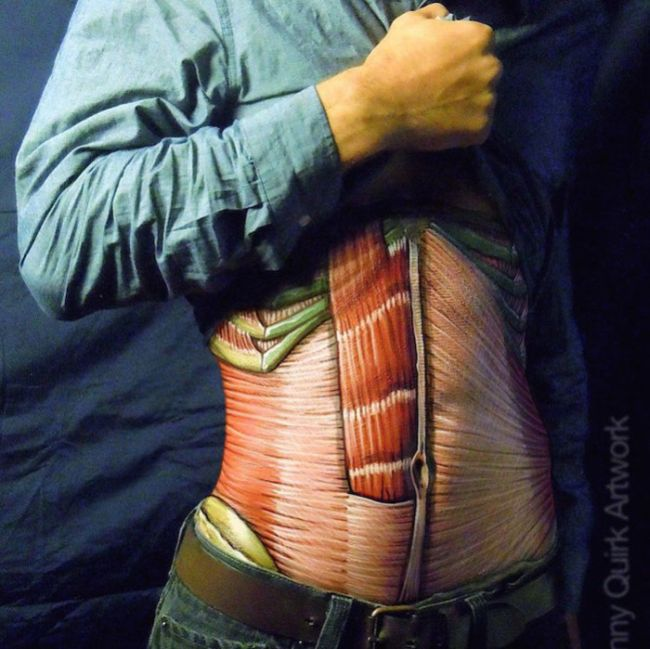 Danny Quirk Reveals What's Under Human Skin With Paint And Markers (13 pics)
