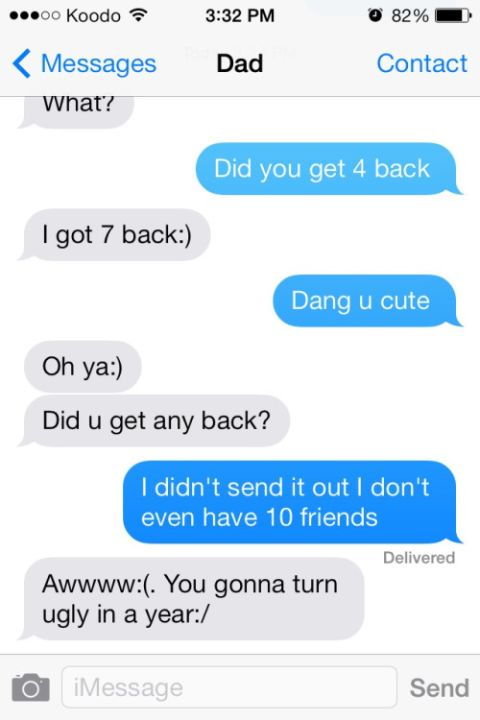 Dad Trolls Daughter Via Text Message (2 pics)