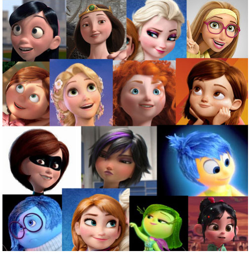 Every Female Character In Disney Pixar Films Shares The Same Face (9 pics)