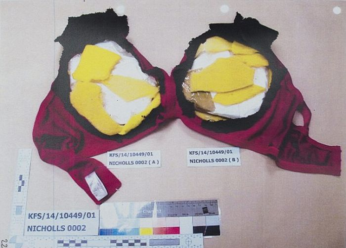 Smuggler Gets Caught With $200,000 Worth Of Cocaine In Her 46D Bra (4 pics)