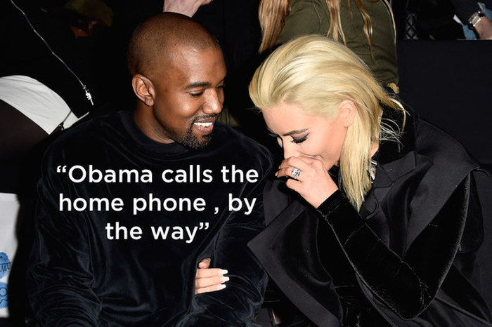 President Obama Shoots Down Kanye West's Claim That He Calls Him (5 pics)