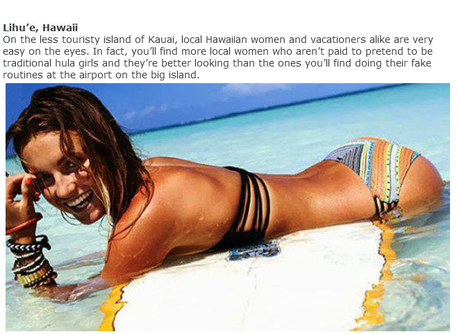 Where To Find The Best Looking Women In The USA (20 pics)
