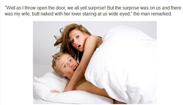 Man Invites Everyone Over For A Surprise Party To Catch Cheating Wife (6 pics)