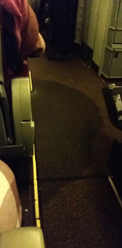 Plane Gets Flooded With Urine After The Toilets Overflow (6 pics)