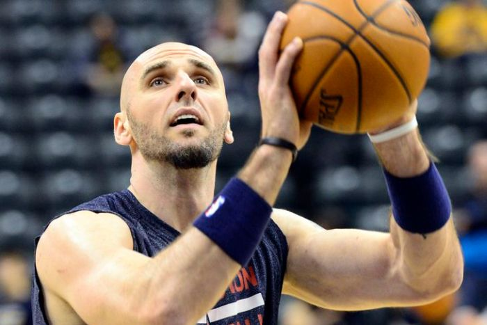 Marcin Gortat Of The Washington Wizards Comes Down To His Interviewers Level