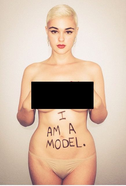 There Is Uproar Over This Models Weight? (20 pics)