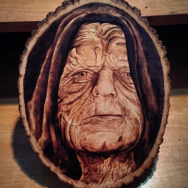 Artist Burns Famous Movie Characters Onto Wood (14 pics)