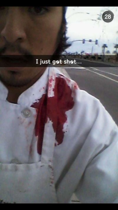Guy Gets Shot And Just Laughs It Off (3 pics)