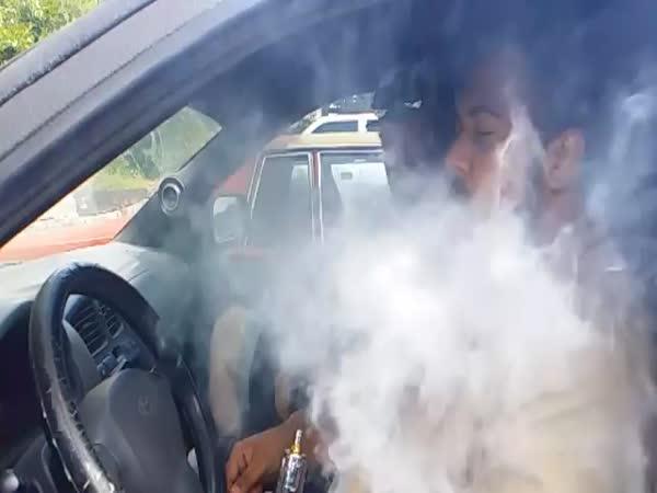 Car Bass And Smoke