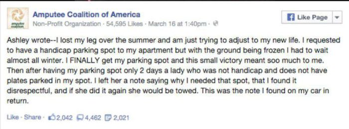 You Won't Believe The Note That Someone Wrote To This Disabled Woman (8 pics)