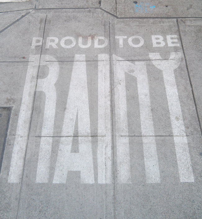 Seattle Artist Creates Street Art That Can Only Be Seen When It's Wet (7 pics)