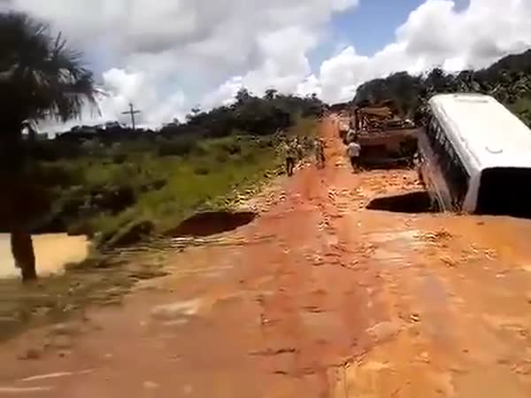 A Bus Fell Into A River