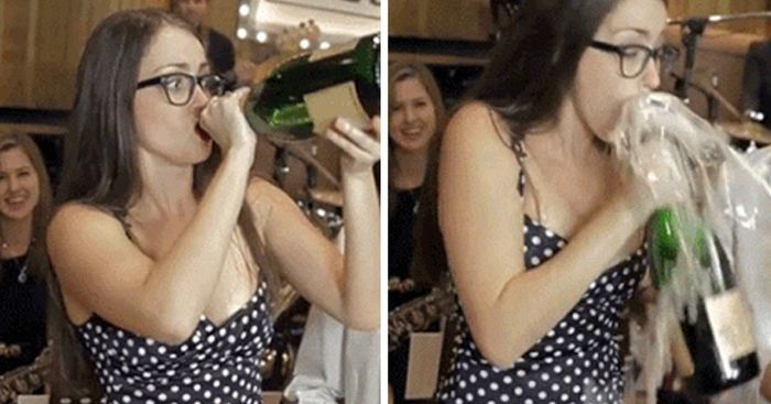 People Who Don't Know What It Means To Drink Responsibly (15 gifs)