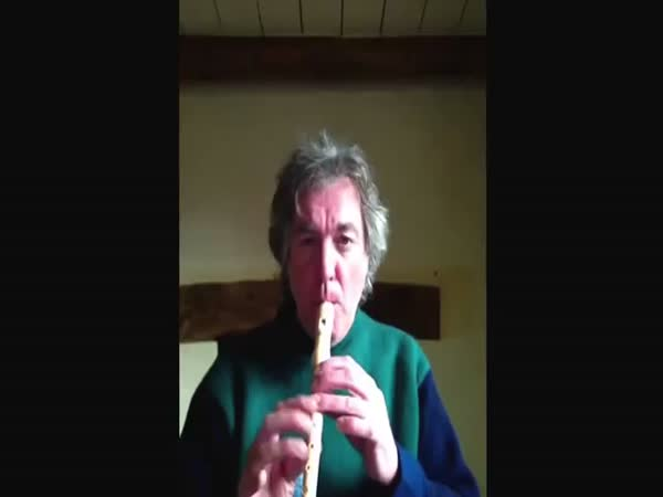 James May Playing A Flute