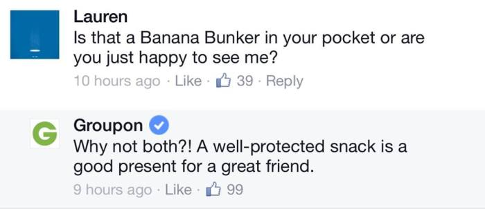 Facebook Had A Field Day When Groupon Introduced The Banana Bunker (18 pics)