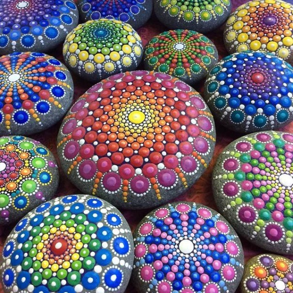 Artist Creates Amazing Mandalas By Painting Ocean Stones (15 pics)