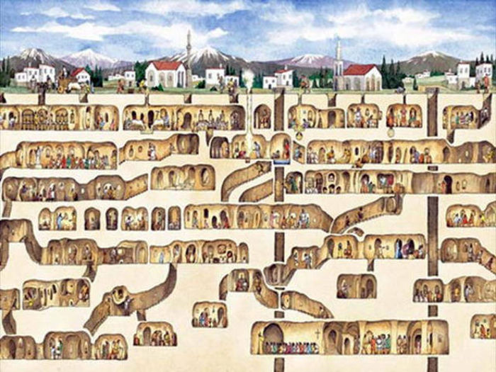 Man Knocks Down Wall And Finds An Underground City Beneath His House (6 pics)