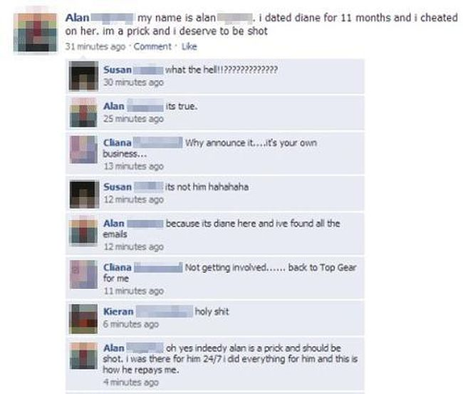 Cheaters Who Got Outed On Facebook (7 pics)