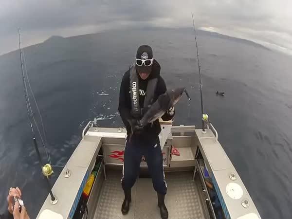 Funny Selfie With Tuna