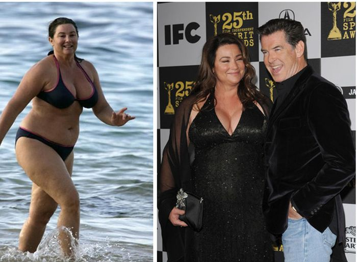 Pierce Brosnan And His Wife Back In The Day And Today (4 pics)