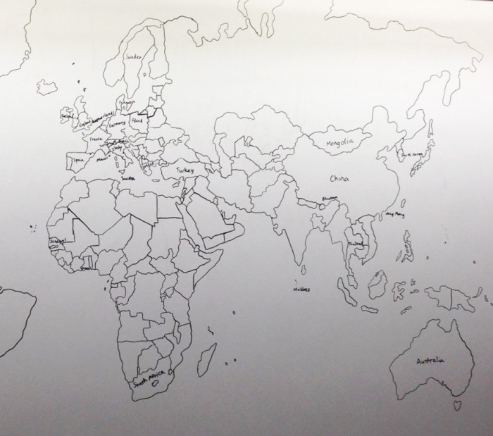 Boy With Autism Draws Amazing World Map Entirely From Memory (4 pics)