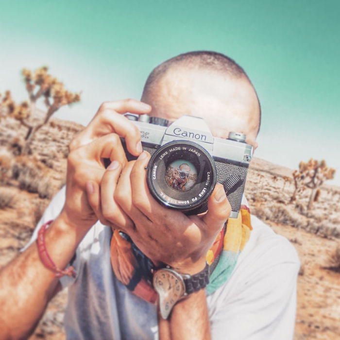 Experimental Self Portraits At Joshua Tree National Park (7 pics)